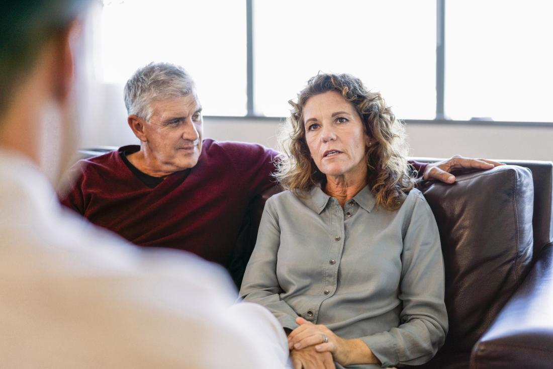 Mature couple in counseling or therapy session